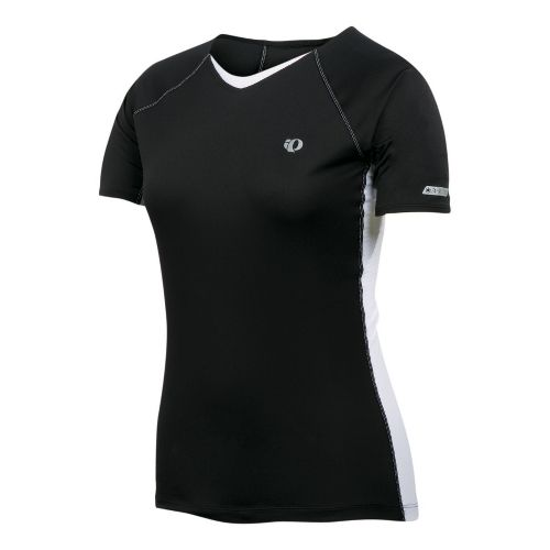 Womens Pearl Izumi Infinity In-R-Cool Short Sleeve Technical Tops - Black/White XL