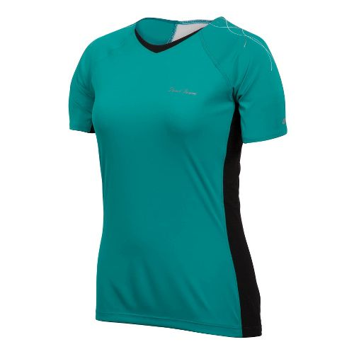 Womens Pearl Izumi Infinity In-R-Cool Short Sleeve Technical Tops - Peacock/Black XL