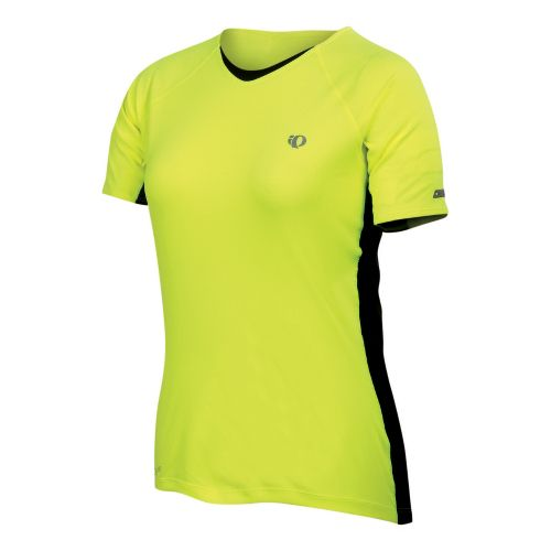 Womens Pearl Izumi Infinity In-R-Cool Short Sleeve Technical Tops - Syrup/Black S