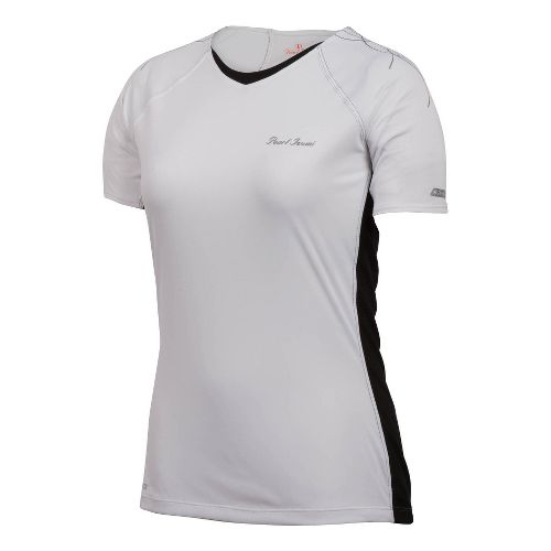 Womens Pearl Izumi Infinity In-R-Cool Short Sleeve Technical Tops - White XL