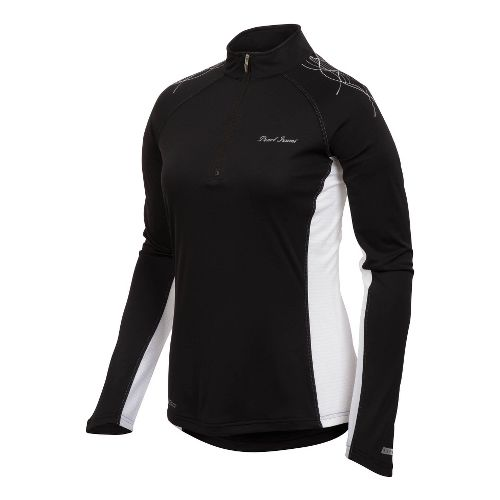 Womens Pearl Izumi Infinity In-R-Cool Long Sleeve 1/2 Zip Technical Tops - Black M