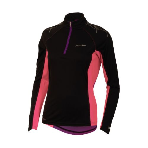 Womens Pearl Izumi Infinity In-R-Cool Long Sleeve 1/2 Zip Technical Tops - Black/Paradise Pink ...