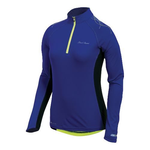 Womens Pearl Izumi Infinity In-R-Cool Long Sleeve 1/2 Zip Technical Tops - Dahlia/Black L