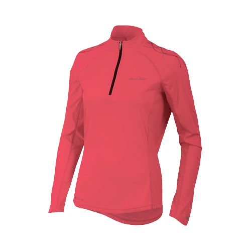 Womens Pearl Izumi Infinity In-R-Cool Long Sleeve 1/2 Zip Technical Tops - Paradise Pink L ...