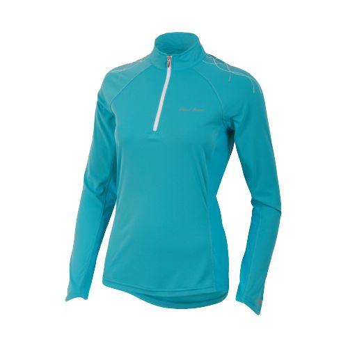 Womens Pearl Izumi Infinity In-R-Cool Long Sleeve 1/2 Zip Technical Tops - Scuba Blue XL ...