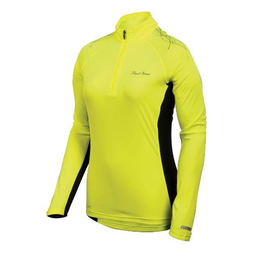 Womens Pearl Izumi Infinity In-R-Cool Long Sleeve 1/2 Zip Technical Tops - Syrup S