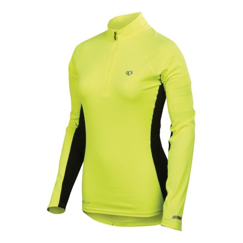 Womens Pearl Izumi Infinity In-R-Cool Long Sleeve 1/2 Zip Technical Tops - Screaming ...