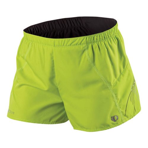 Womens Pearl Izumi Infinity Split Lined Shorts - Lime/Black L