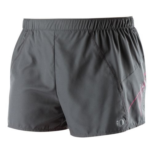Womens Pearl Izumi Infinity Split Lined Shorts - Shadow Grey/Pink Punch L