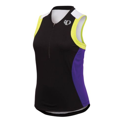 Womens Pearl Izumi SELECT Tri SL Jersey Sleeveless Technical Tops - Black/Dahlia XS