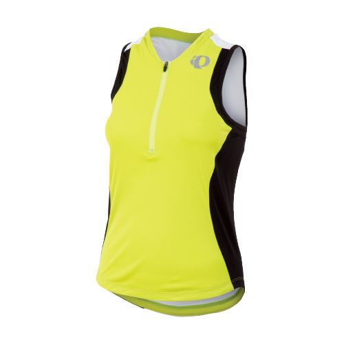 Womens Pearl Izumi SELECT Tri SL Jersey Sleeveless Technical Tops - Lime/Black M