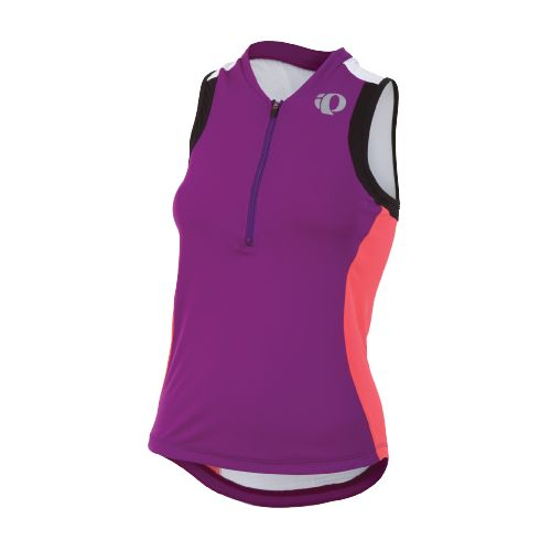 Womens Pearl Izumi SELECT Tri SL Jersey Sleeveless Technical Tops - Orchid/Paradise Pink L
