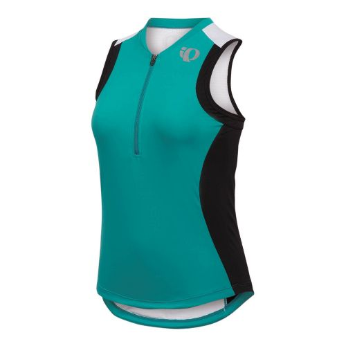 Womens Pearl Izumi SELECT Tri SL Jersey Sleeveless Technical Tops - Peacock/Black XS