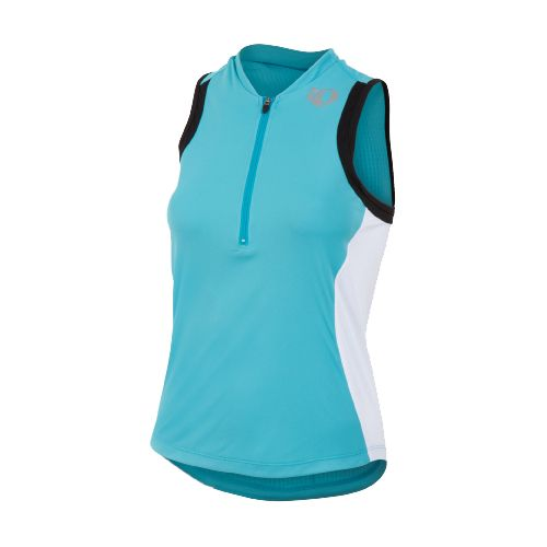 Womens Pearl Izumi SELECT Tri SL Jersey Sleeveless Technical Tops - Scuba Blue/White S