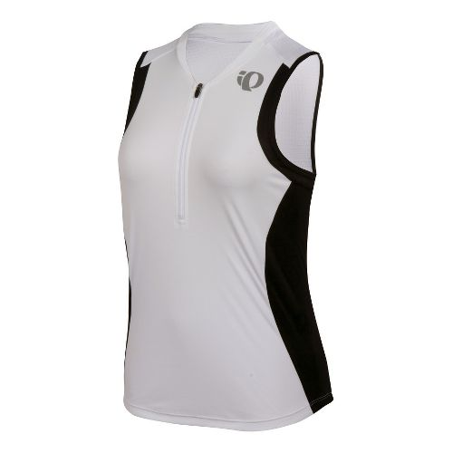 Womens Pearl Izumi SELECT Tri SL Jersey Sleeveless Technical Tops - White/Black XS