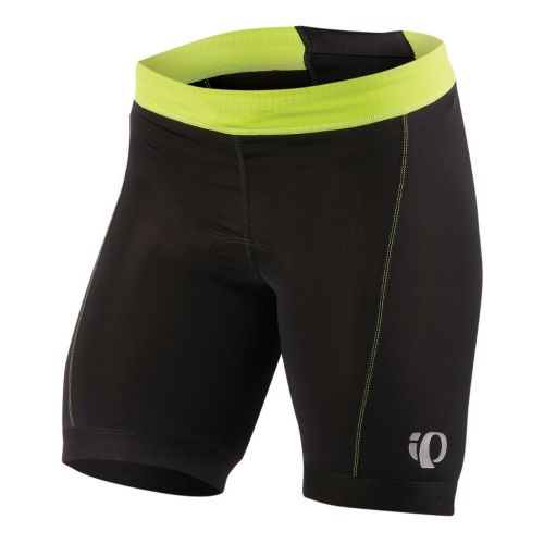 Womens Pearl Izumi SELECT Tri Fitted Shorts - Black/Lime XL