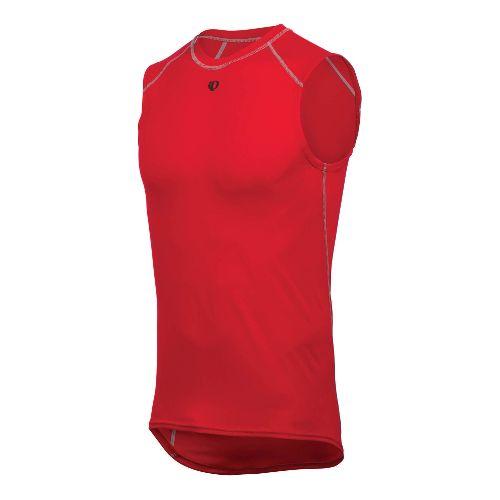 Mens Pearl Izumi Transfer Lite Sleeveless Baselayer Sleeveless Technical Tops - True Red S