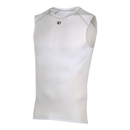 Mens Pearl Izumi Transfer Lite Sleeveless Baselayer Sleeveless Technical Tops - White S