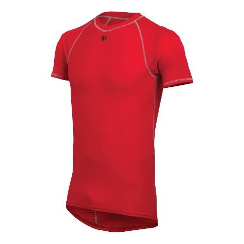 Mens Pearl Izumi Transfer Lite SS Baselayer Short Sleeve Technical Tops - True Red M ...
