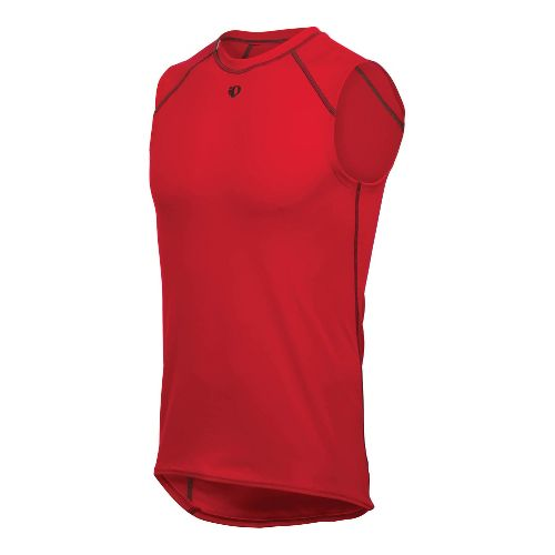 Mens Pearl Izumi Transfer Sleeveless Baselayer Sleeveless Technical Tops - True Red S