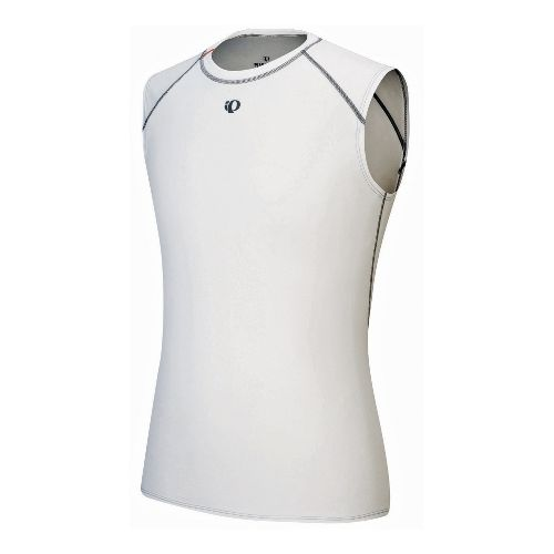 Mens Pearl Izumi Transfer Sleeveless Baselayer Sleeveless Technical Tops - White XL