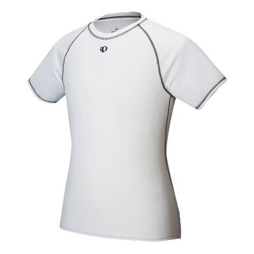 Mens Pearl Izumi Transfer Short Sleeve Baselayer Technical Tops - White M