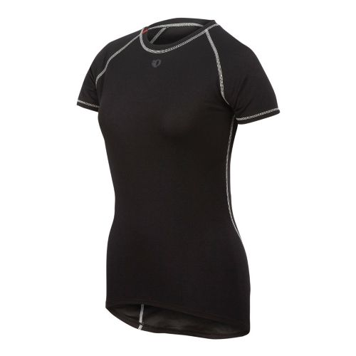 Womens Pearl Izumi Transfer Lite Short Sleeve Baselayer Short Sleeve Technical Tops - Black L ...