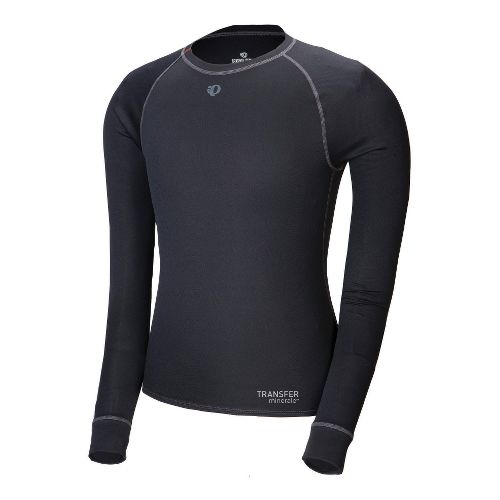 Mens Pearl Izumi Transfer Long Sleeve Baselayer No Zip Technical Tops - Black XL