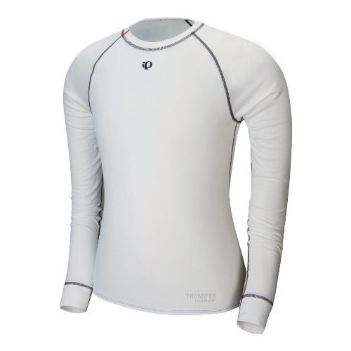 Mens Pearl Izumi Transfer Long Sleeve Baselayer No Zip Technical Tops - White M