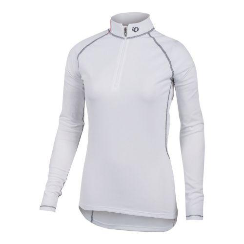 Womens Pearl Izumi Transfer Zip-Neck Long Sleeve Baselayer 1/2 Zip Technical Tops - White XL ...