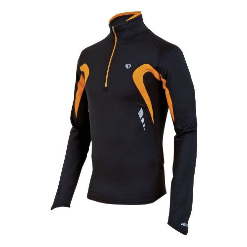 Mens Pearl Izumi Fly Thermal Technical Tops - Black/Safety Orange XL