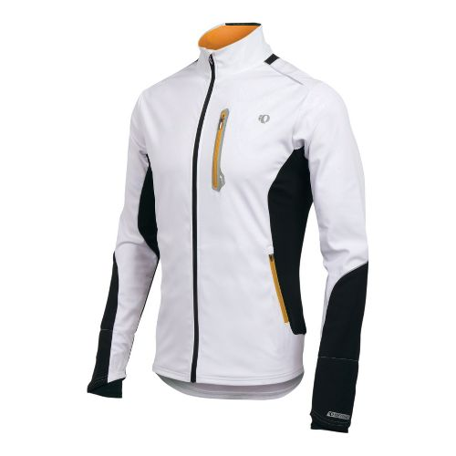 Mens Pearl Izumi Infinity Softshell Jacket Running - White/Safety Orange S