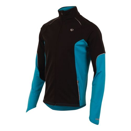 Mens Pearl Izumi Infinity Windblocking Running Jackets - Black/Electric Blue L