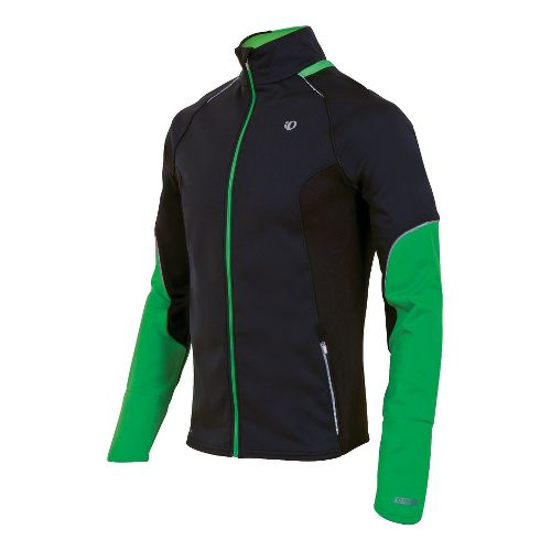 Mens Pearl Izumi Infinity Windblocking Running Jackets - Black/Fairway XL