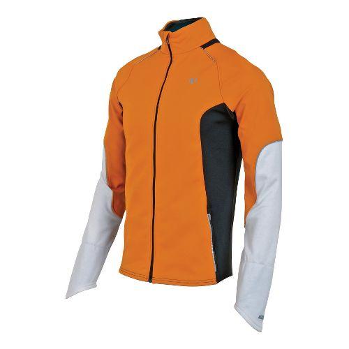Mens Pearl Izumi Infinity Windblocking Running Jackets - Safety Orange/Black M