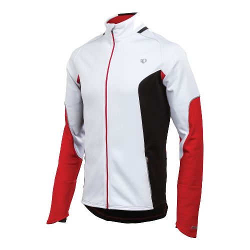 Mens Pearl Izumi Infinity Windblocking Running Jackets - White/True Red M