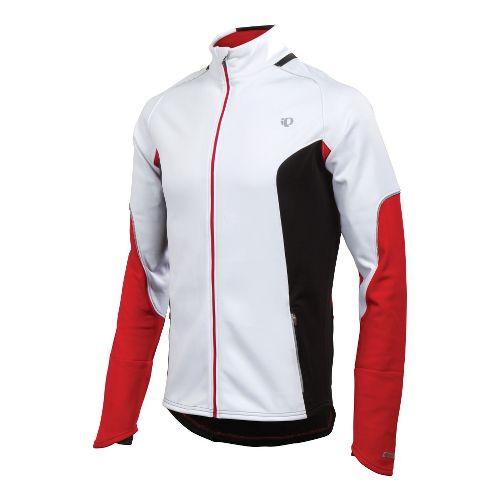 Mens Pearl Izumi Infinity Windblocking Running Jackets - White/True Red S