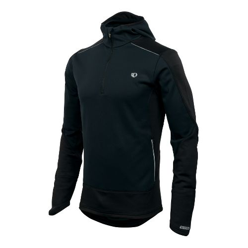 Mens Pearl Izumi Infinity Windblocking Hoody Long Sleeve 1/2 Zip Technical Tops - Black L ...