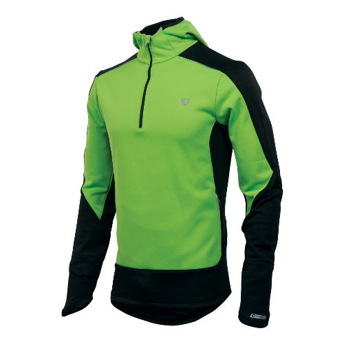Mens Pearl Izumi Infinity Windblocking Hoody Long Sleeve 1/2 Zip Technical Tops - Green ...