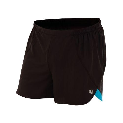 Mens Pearl Izumi Infinity Short Splits Shorts - Black/Electric Blue L