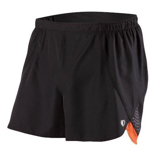 Mens Pearl Izumi Infinity Short Splits Shorts - Black/Rust L
