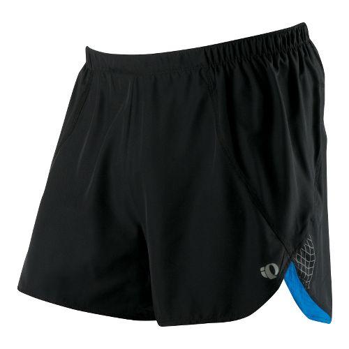 Mens Pearl Izumi Infinity Short Splits Shorts - Black/True Blue M