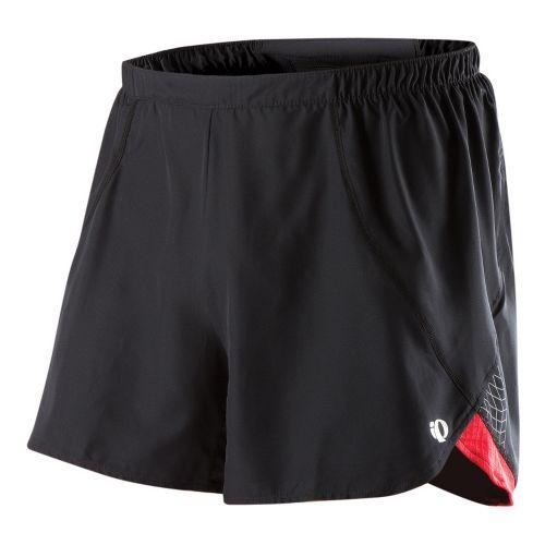 Mens Pearl Izumi Infinity Short Splits Shorts - Black/True Red M