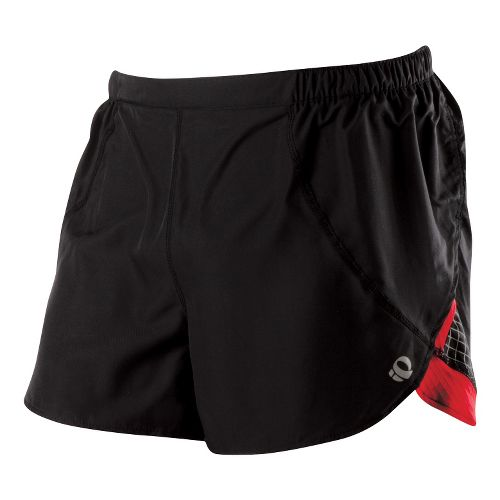 Mens Pearl Izumi Infinity Split Short Splits Shorts - Black/True Red L