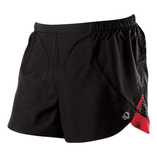 Mens Pearl Izumi Infinity Split Short Splits Shorts - Black/True Red XL