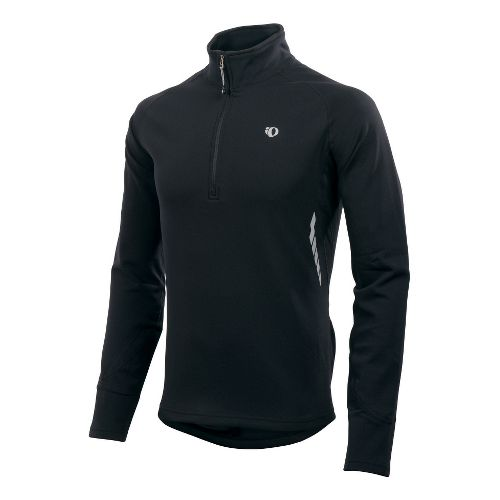 Mens Pearl Izumi Therma Phase Top Long Sleeve 1/2 Zip Technical Tops - Black S ...
