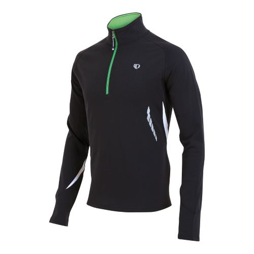Mens Pearl Izumi Therma Phase Top Long Sleeve 1/2 Zip Technical Tops - Black/Fairway S ...