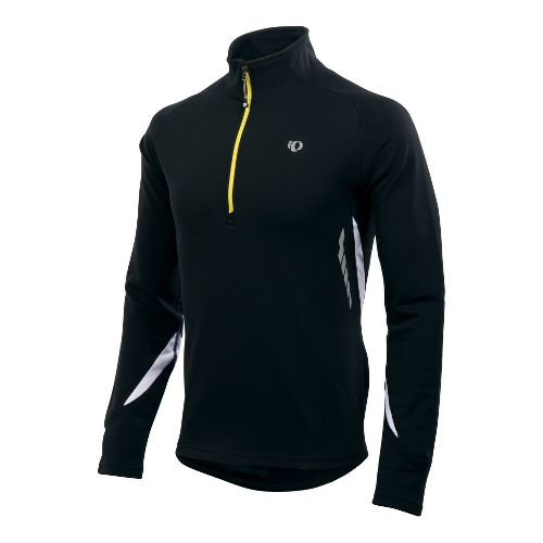 Mens Pearl Izumi Therma Phase Top Long Sleeve 1/2 Zip Technical Tops - Black/White S ...