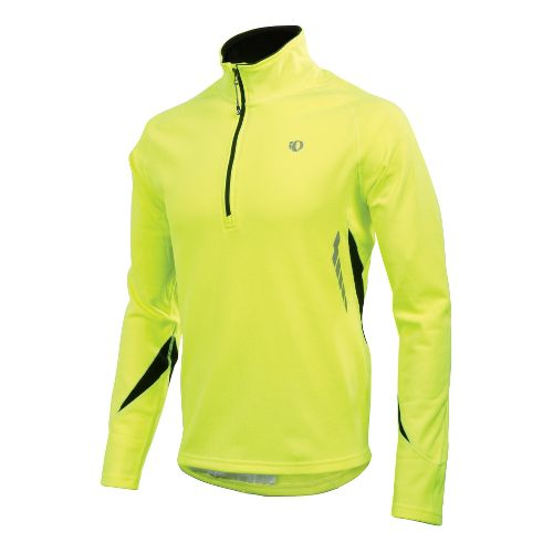 Mens Pearl Izumi Therma Phase Top Long Sleeve 1/2 Zip Technical Tops - Screaming Yellow ...