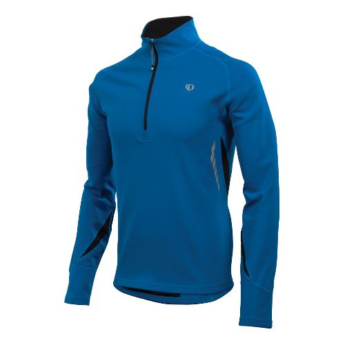 Mens Pearl Izumi Therma Phase Top Long Sleeve 1/2 Zip Technical Tops - True Blue/Black ...